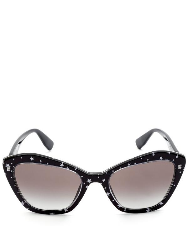 Star Print Geometric Cat-Eye Sunglasses