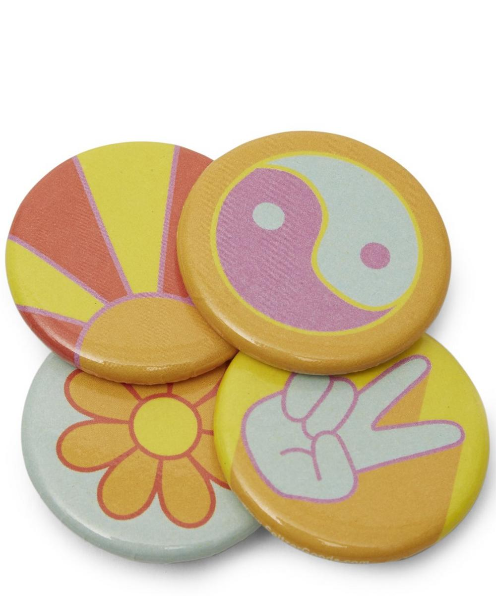 Peace Vibes Magnet Set