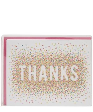 Colourful Confetti Thank You Cards Set of 10