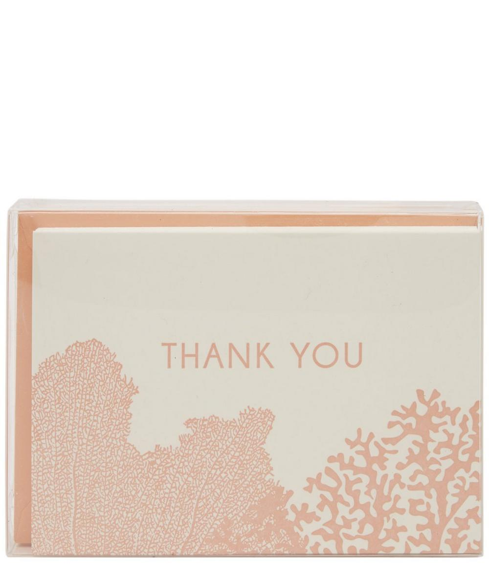 Coral Thank You Cards Set of 8