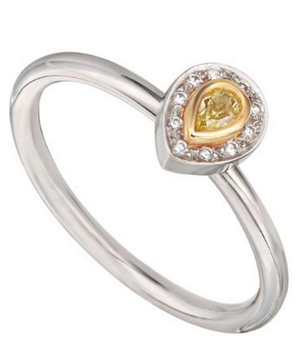 Gold and Platinum Diamond Solitaire Ring