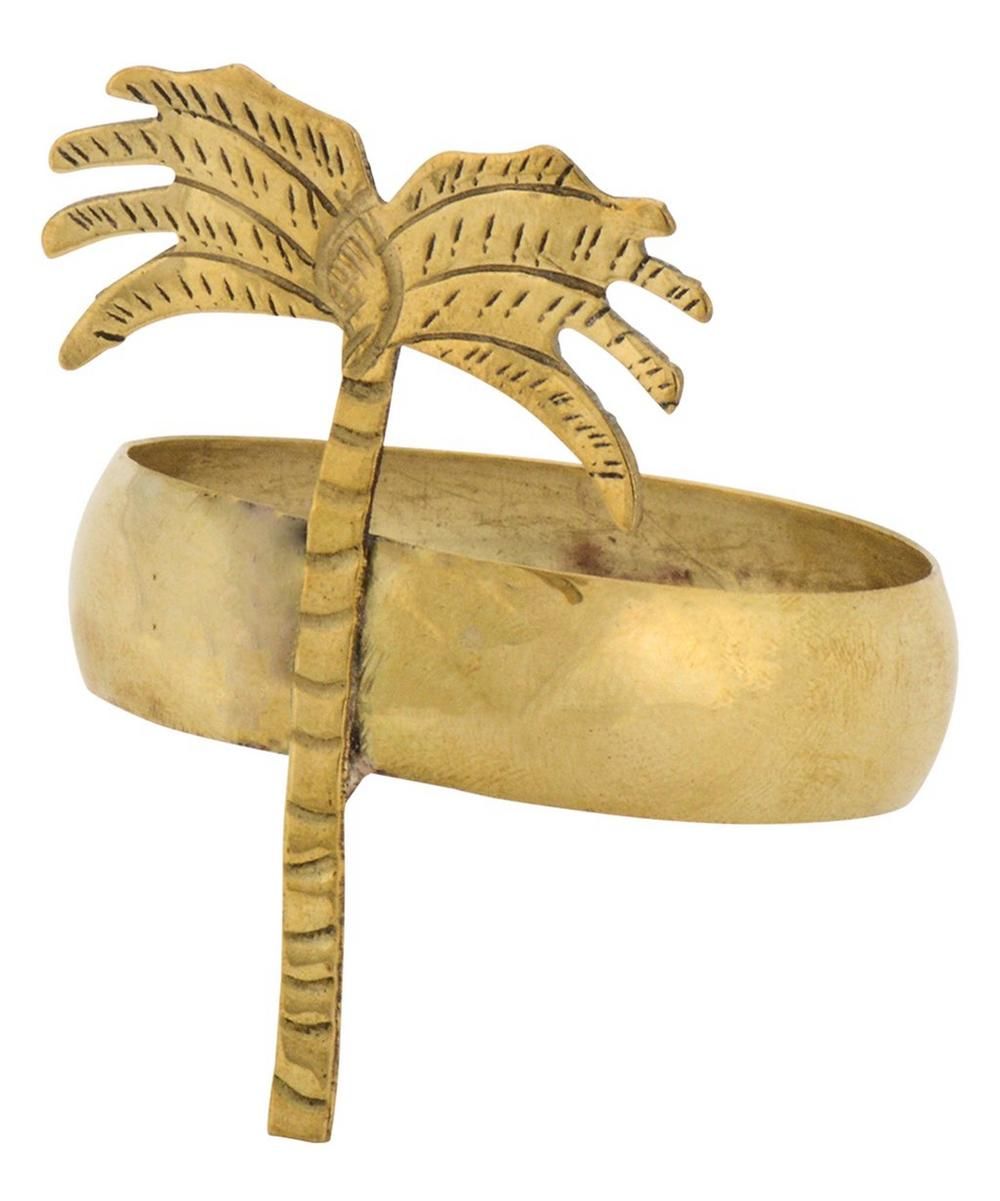 Brass Oasis Napkin Ring