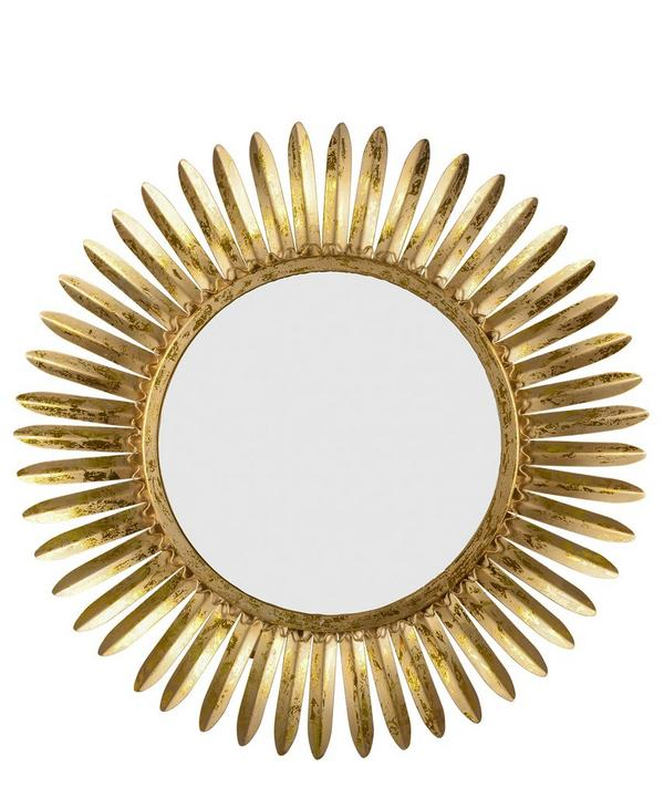 Rays of Gold Sunburst Mirror