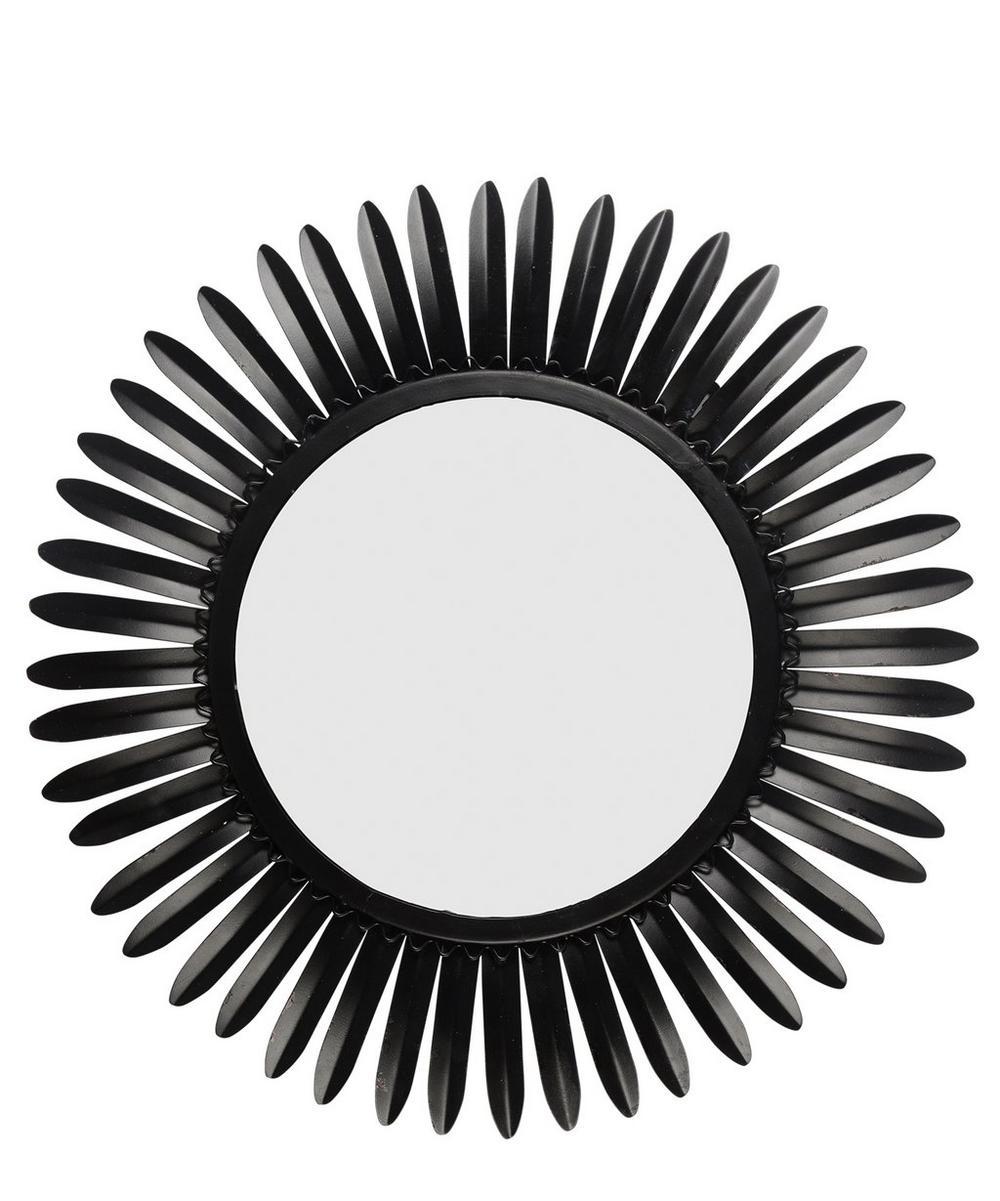 Rays of Shadow Sunburst Mirror