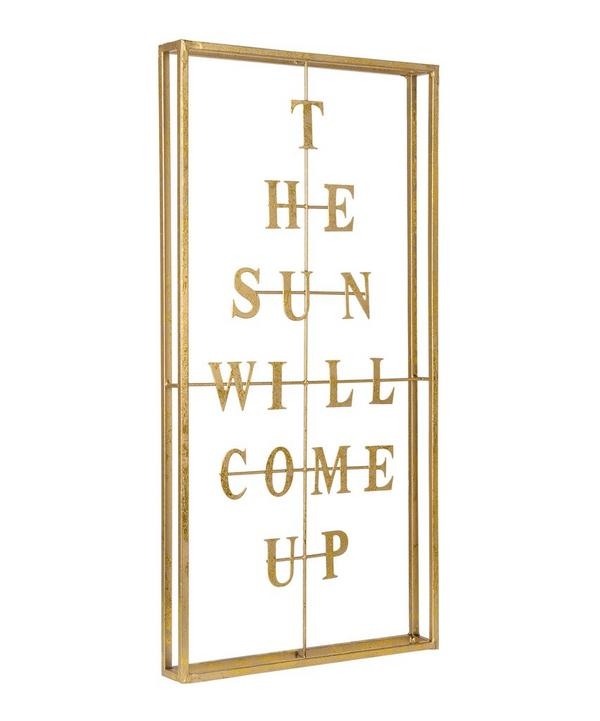 The Sun Will Come Up Brass Wall Art