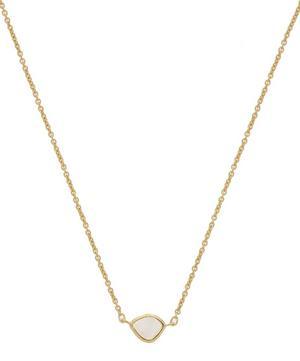 Gold Vermeil Siren Moonstone Mini Nugget Necklace