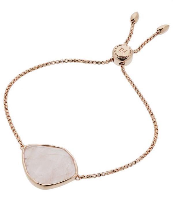 Rose Gold Vermeil Siren Rose Quartz Nugget Chain Cocktail Friendship Bracelet
