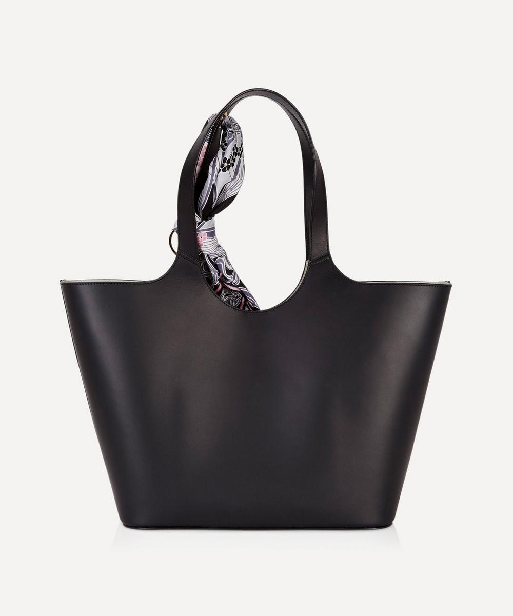 Audrey Leather Tote Bag with Ianthe Silk Scarf