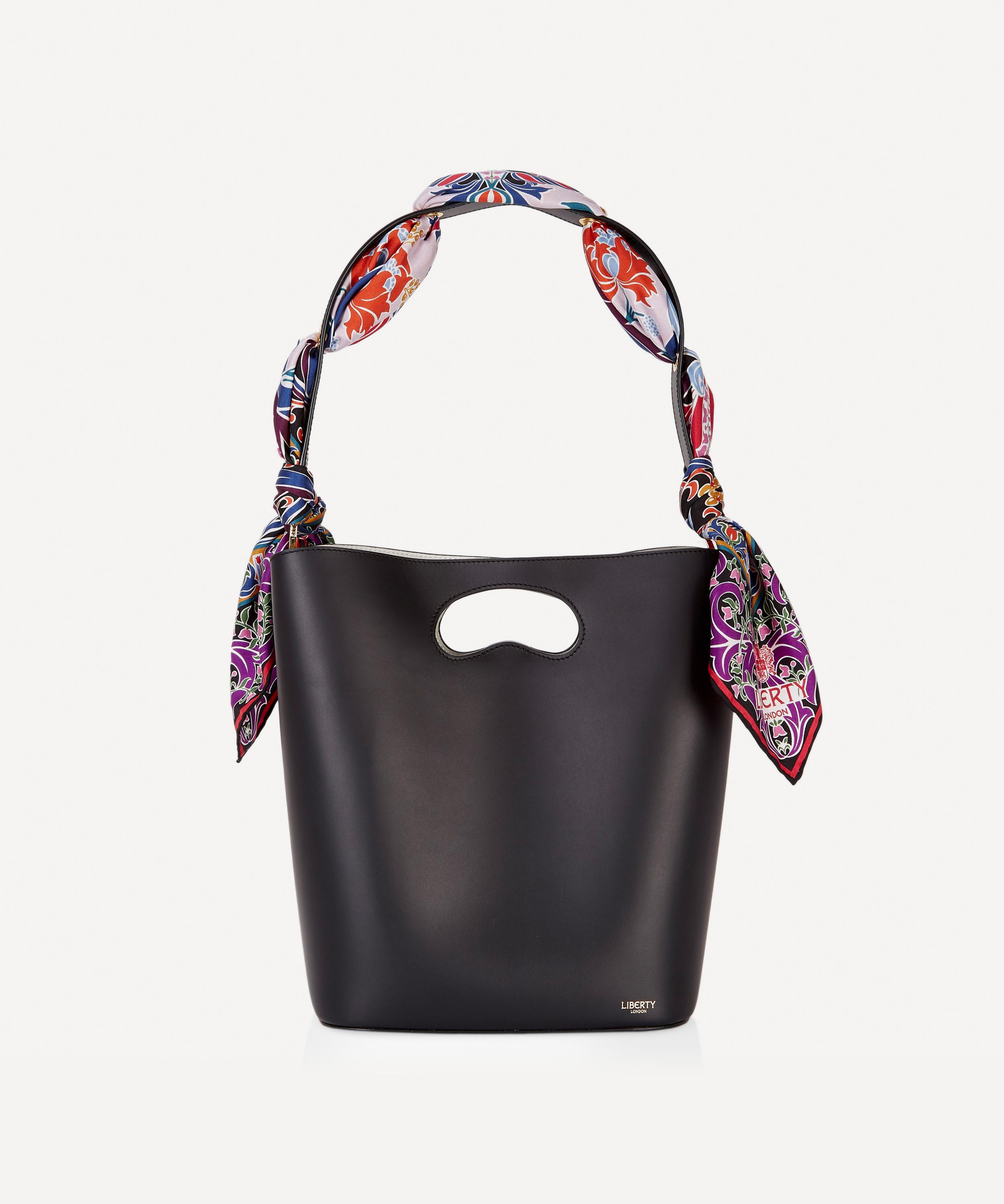 f37d0be192d338 Sophia Leather Bucket Bag with Albany Silk Scarf | Liberty London