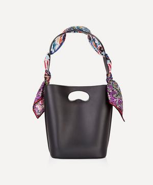 Sophia Leather Bucket Bag with Albany Silk Scarf