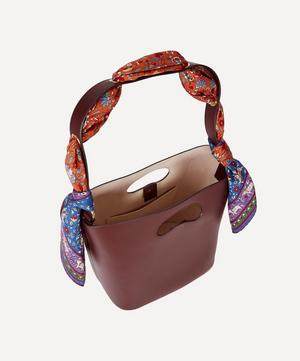 Sophia Leather Bucket Bag with Imran Silk Scarf
