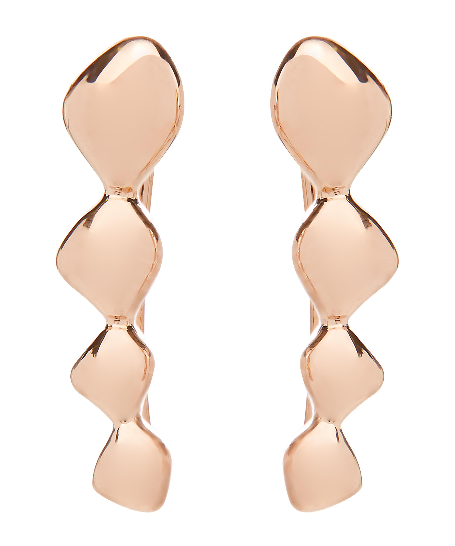 eae5d669e9aaa Rose Gold Vermeil Nura Teardrop Climber Earrings
