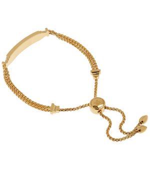 Gold Vermeil Baja Deco Diamond ID Bracelet