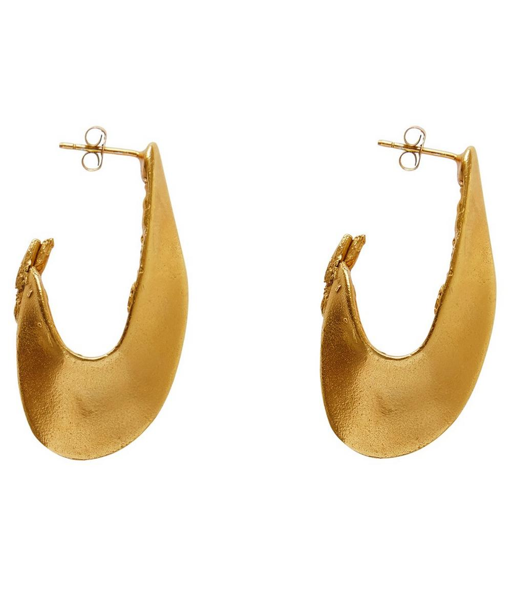Gold-Plated Il Leone 2.0 Earrings