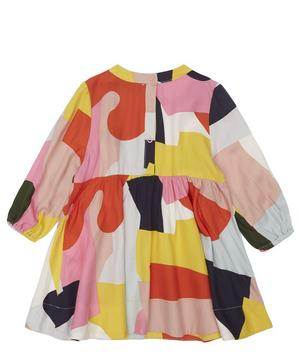 Colour Block Viscose Dress 3 Months-3 Years