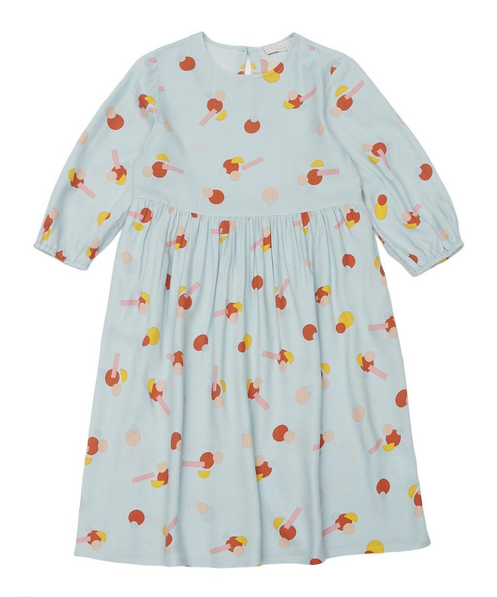 Flower Stickers Viscose Dress 2-8 Years