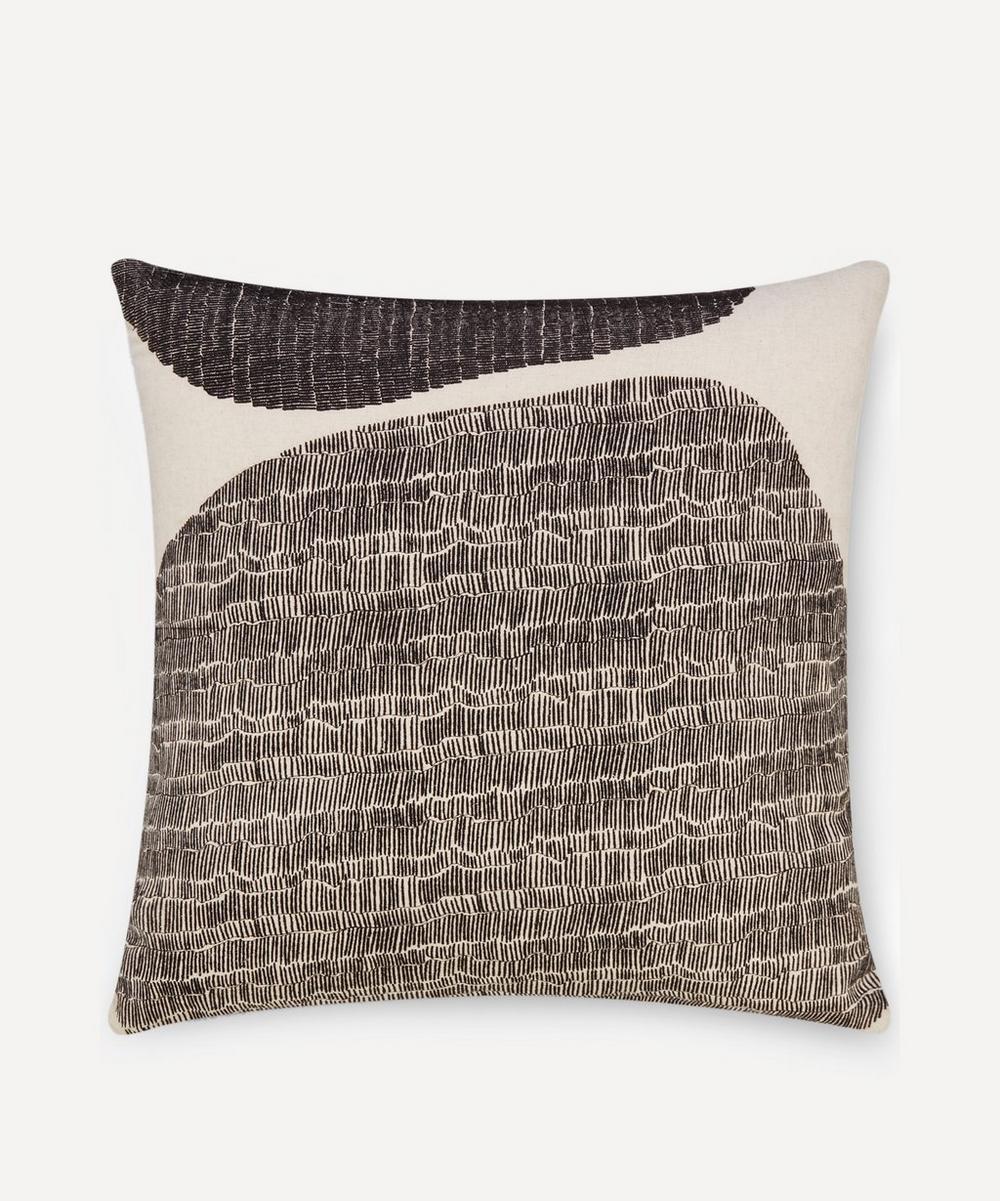 Tom Dixon Stitch Cushion In Brown