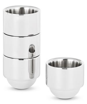 Brew Stainless Steel Espresso Cups Set of Four