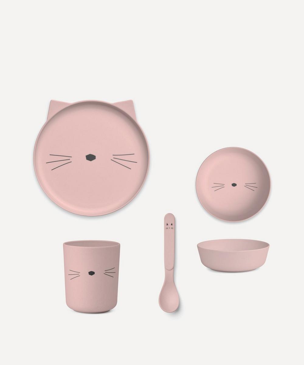 Barbara Cat Bamboo Tableware Set