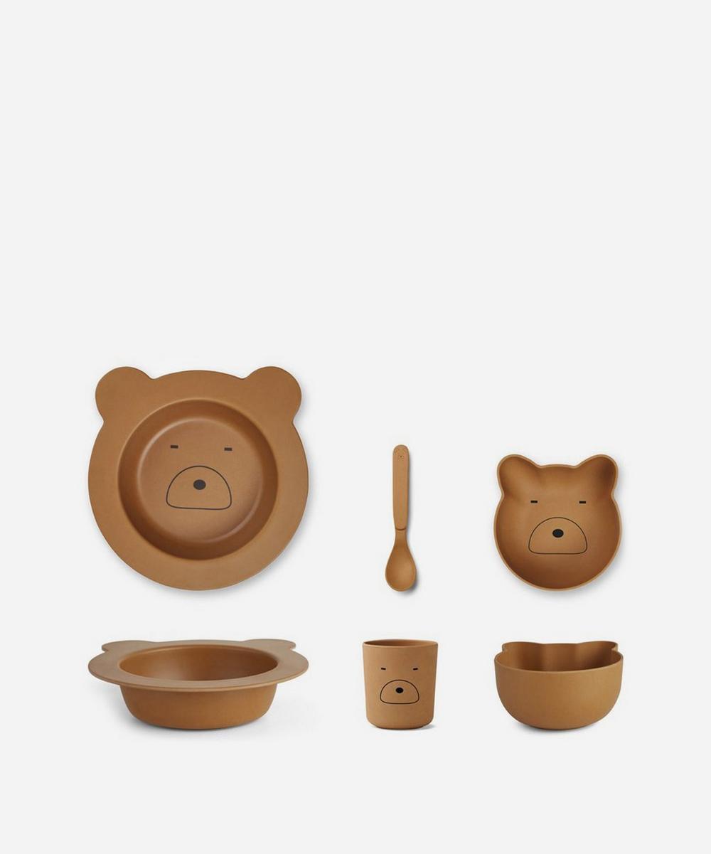 Barbara Bear Bamboo Tableware Set