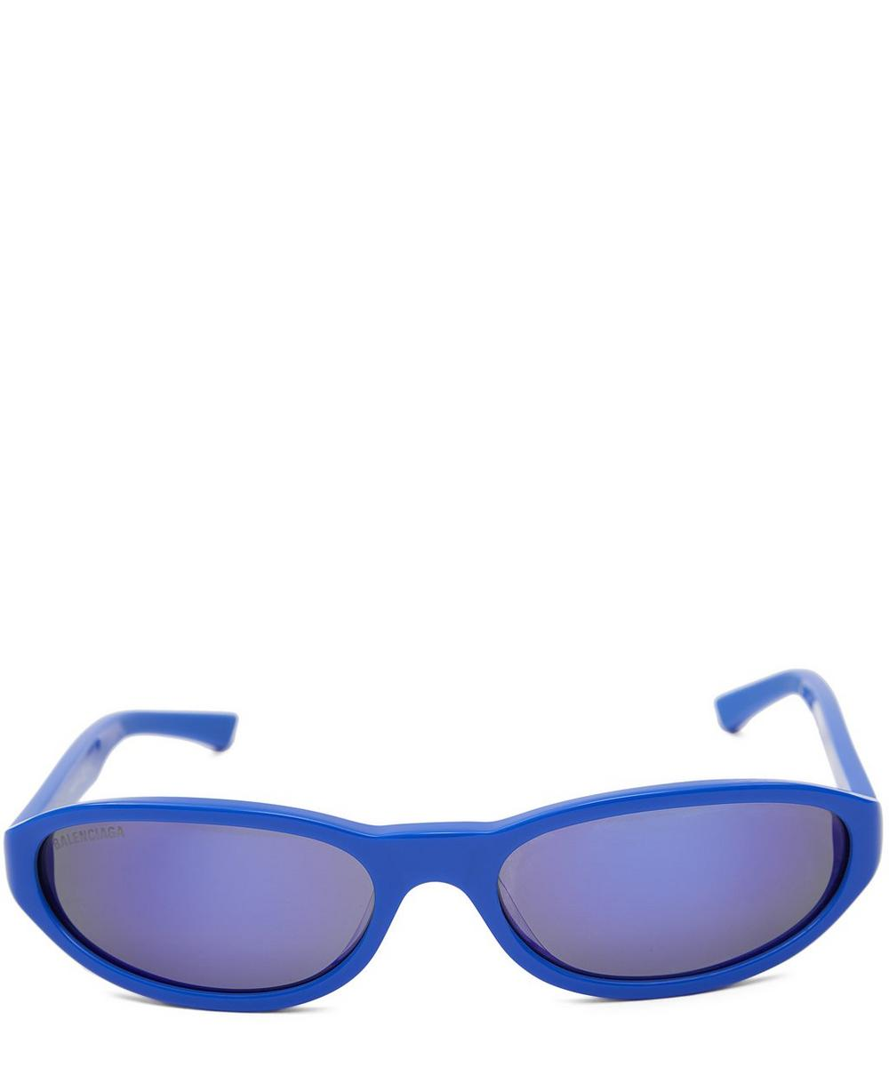 9de8e731c0 Balenciaga Neo Round Sunglasses In 004 Blue