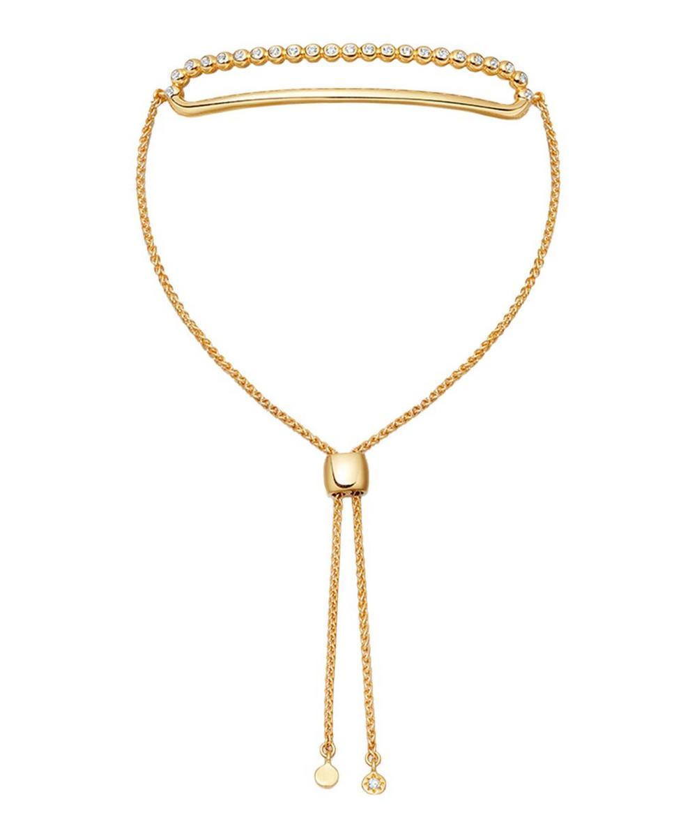 Gold Vermeil Stilla Arc White Sapphire Kula Bracelet