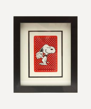 Snoopy Winking Vintage Framed Playing Card