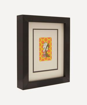 Linus with Blanket Vintage Framed Playing Card