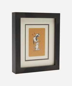Snoopy Crying Vintage Framed Playing Card