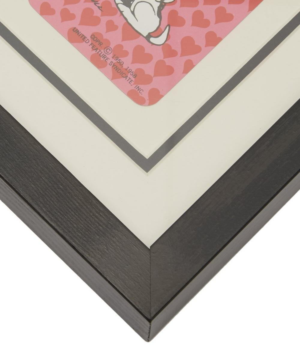 Charlie Brown and Snoopy Vintage Framed Playing Card