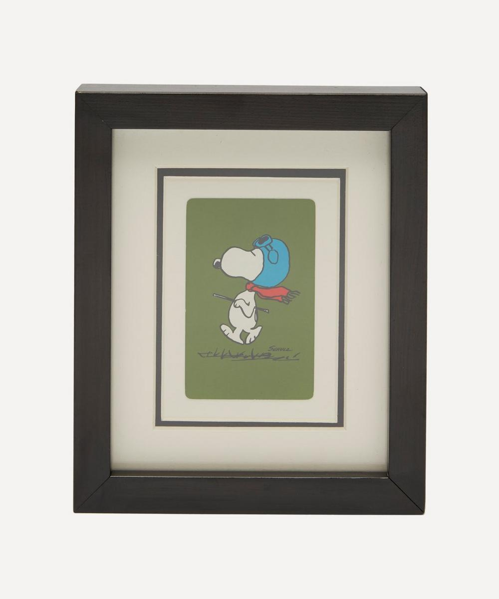 Snoopy Vintage Framed Playing Card