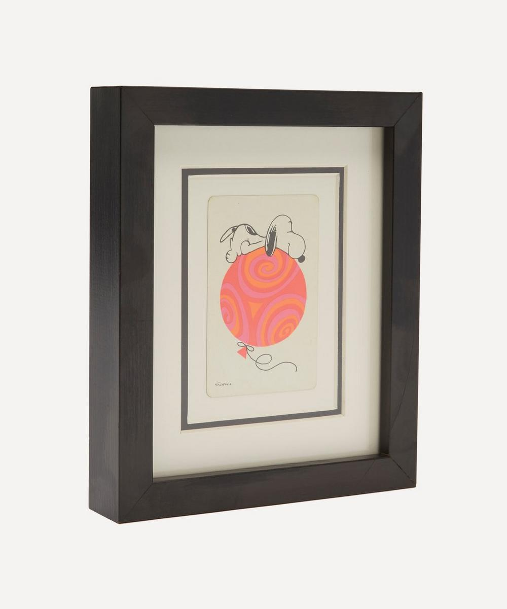 Snoopy with a Balloon Vintage Framed Playing Card