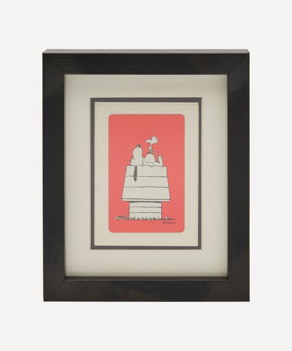 Vintage Playing Cards - Snoopy and Woodhouse Vintage Framed Playing Card