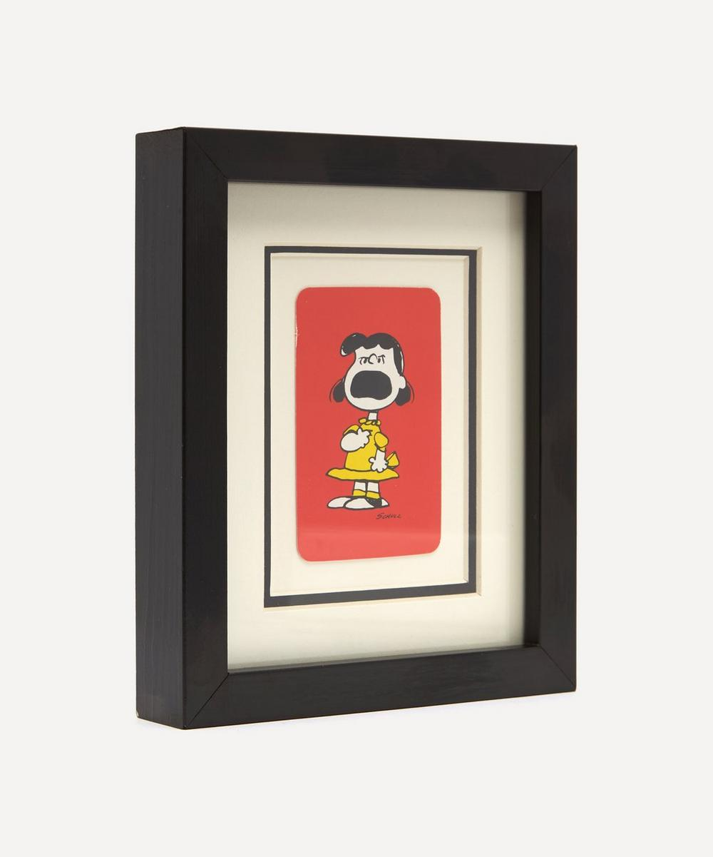Lucy Crying Vintage Framed Playing Card
