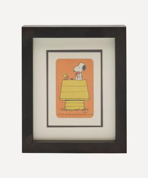 Snoopy Kennel Vintage Framed Playing Card