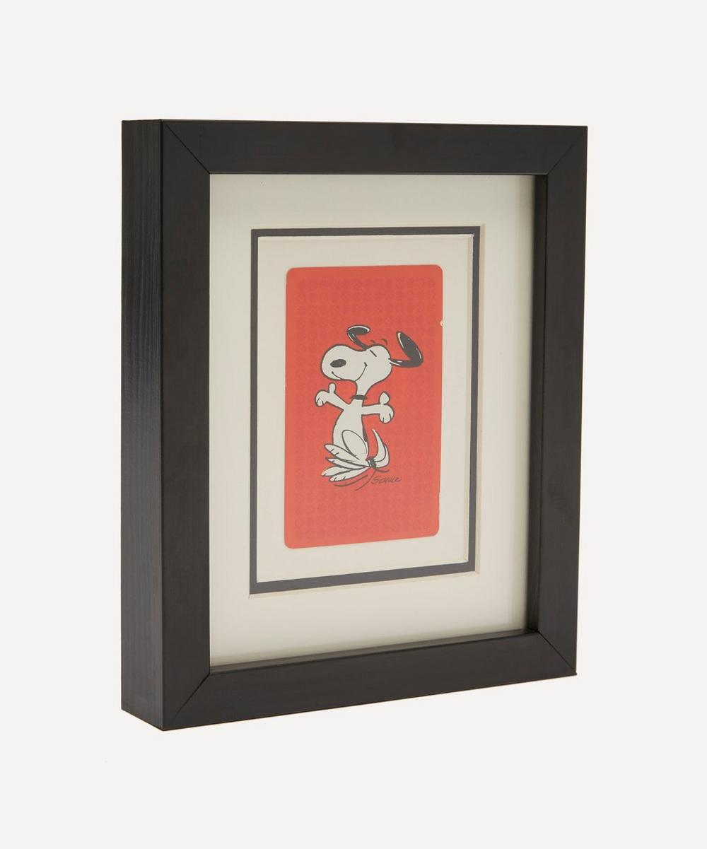 Snoopy Hat Vintage Framed Playing Card