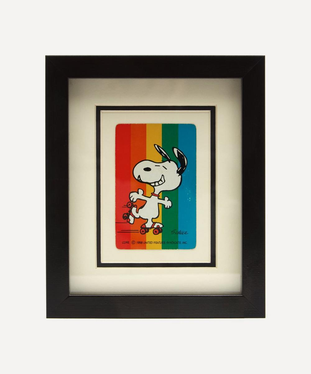 Snoopy Rainbow Vintage Framed Playing Card