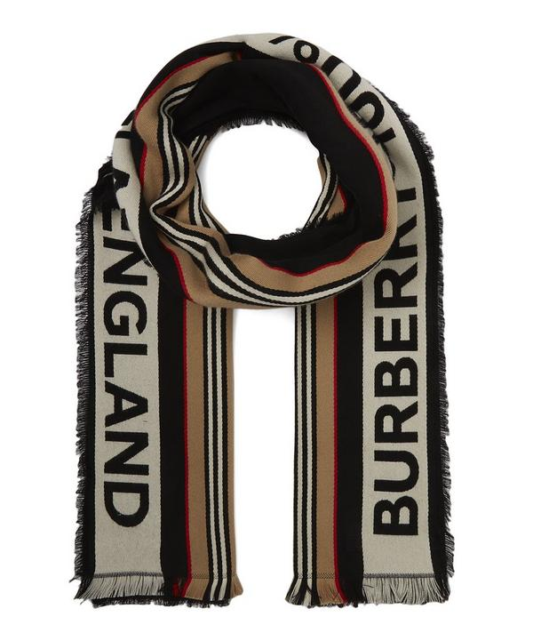 Icon Stripe Logo Detail Cotton Scarf ... e633f481867b9
