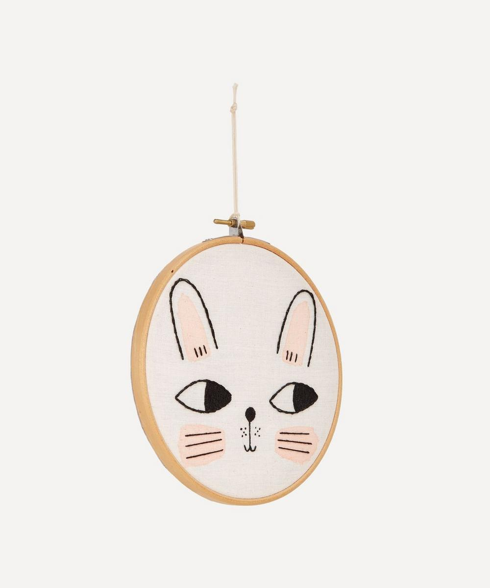 Bunny Embroidered Wall Art