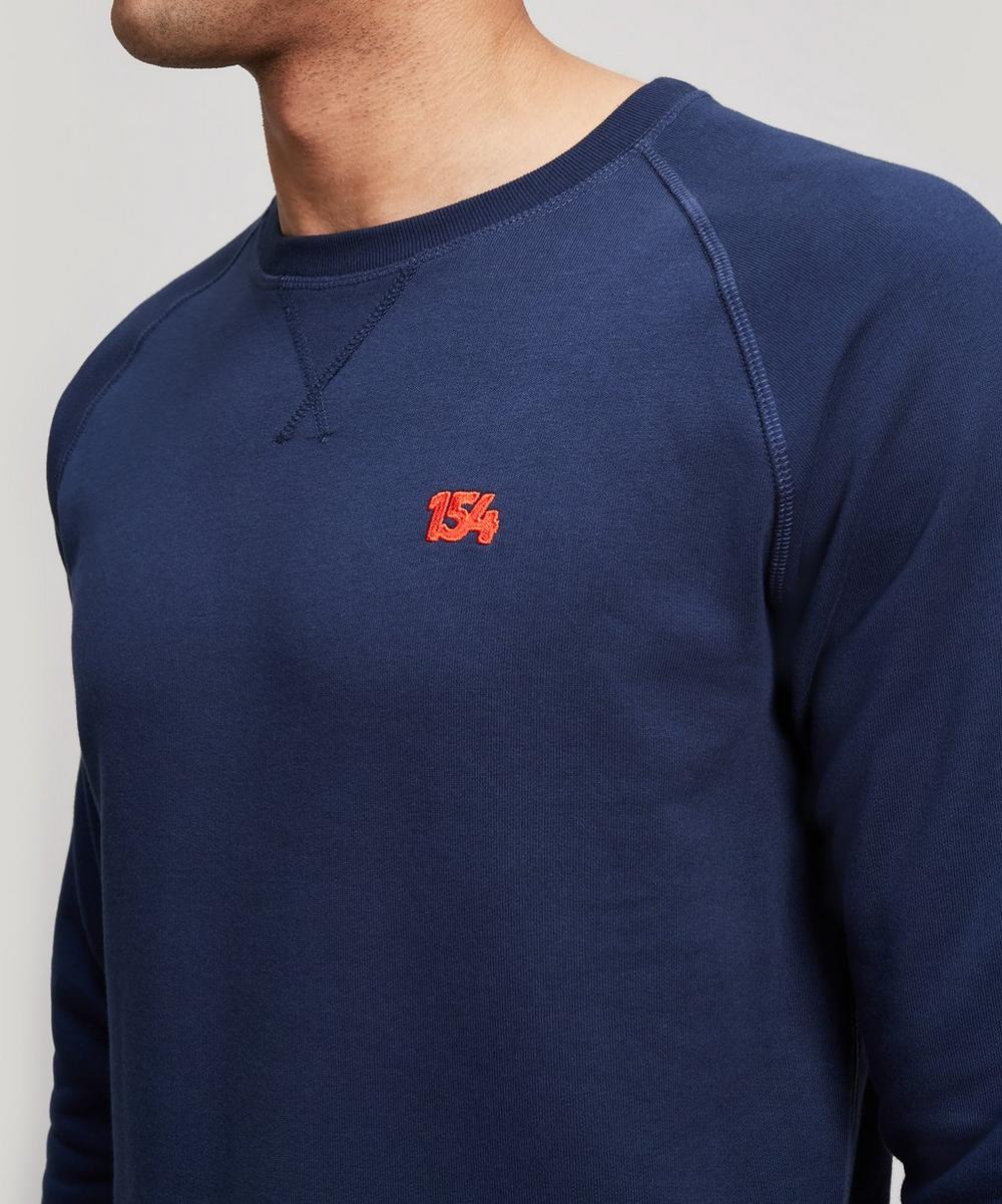 Logo Embroidered Stretch-Cotton Sweater