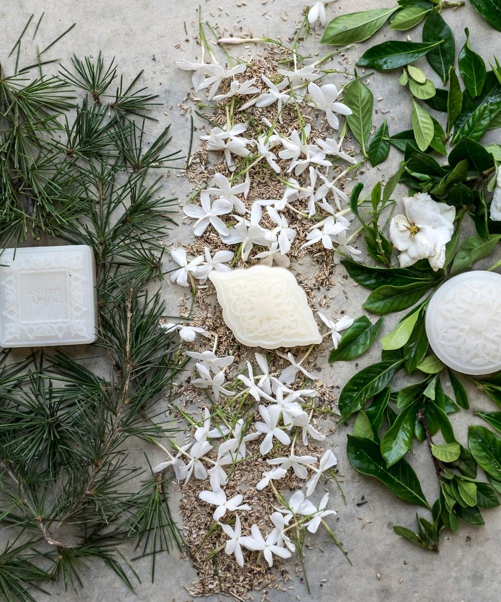 Cedar of Lebanon Jasmine of Arabia and Oriental Gardenia Box of 3 Ma'amoul Soaps