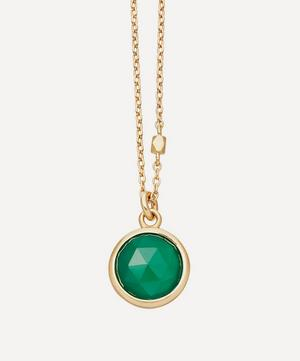 Gold Vermeil Stilla Green Onyx Pendant Necklace