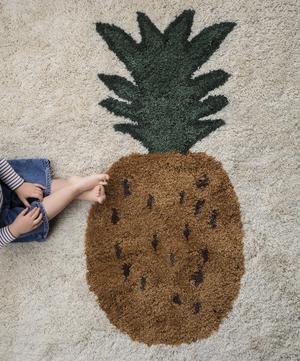 Large Pineapple Tufted Wool Rug