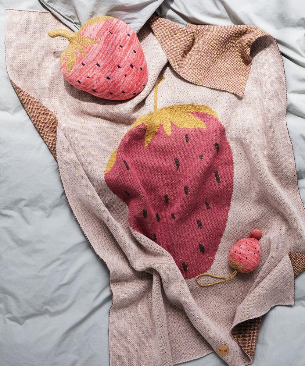 Strawberry Cotton Blanket