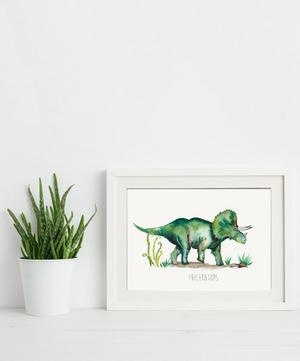 Triceratops A3 Print