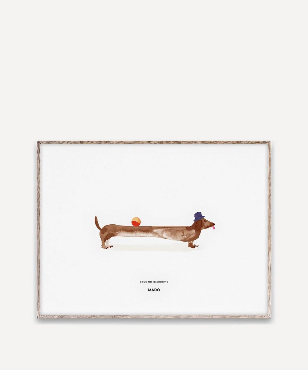 Doug the Dachshund A3 Print
