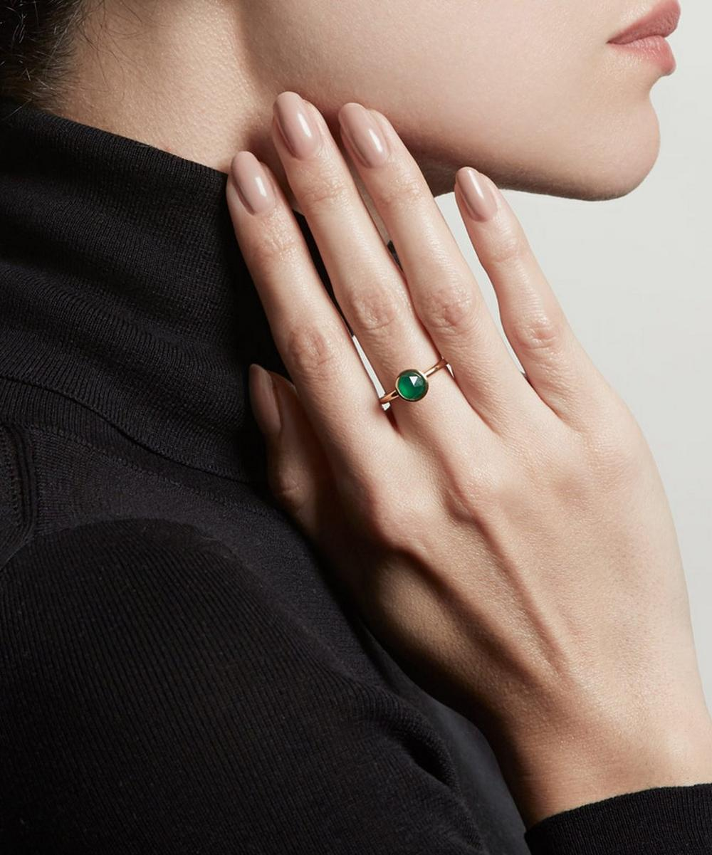 Gold Vermeil Stilla Green Onyx Ring