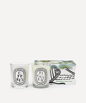 Figuier and Cypres Scented Candle Duo