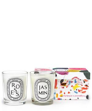 Roses and Jasmin Scented Candle Duo