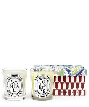 Tubéreuse and Santal Scented Candle Duo